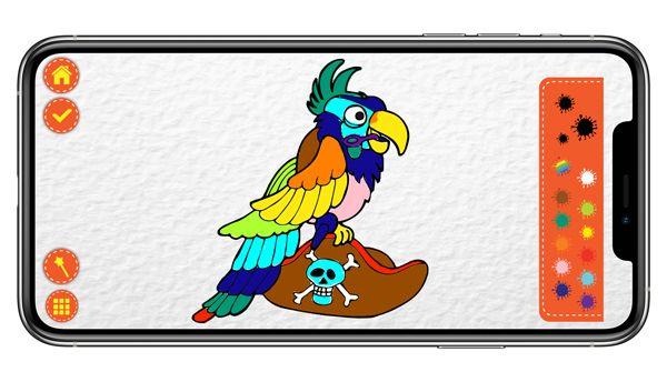Ditamatte pirati tavolozza dei colori con disegno modificato