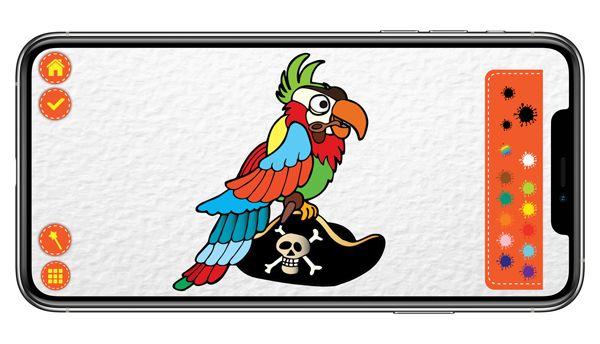 Ditamatte pirati tavolozza dei colori con disegno originale