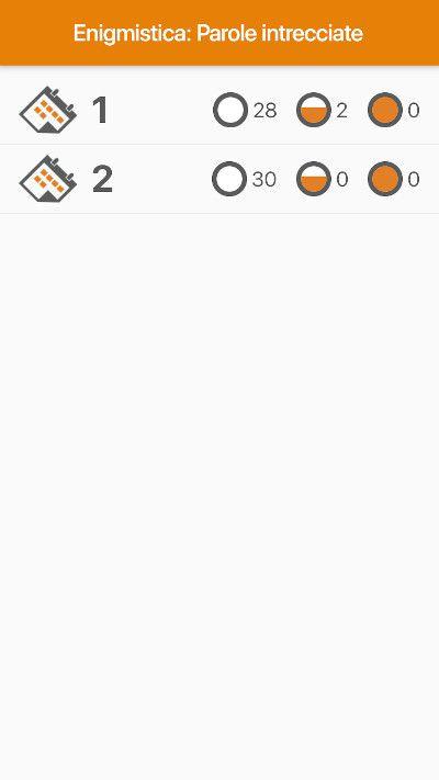 App Parole intrecciate scelta pacchetto gioco