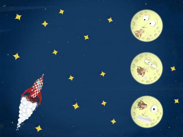 App Viaggio nella luna: mini giochi
