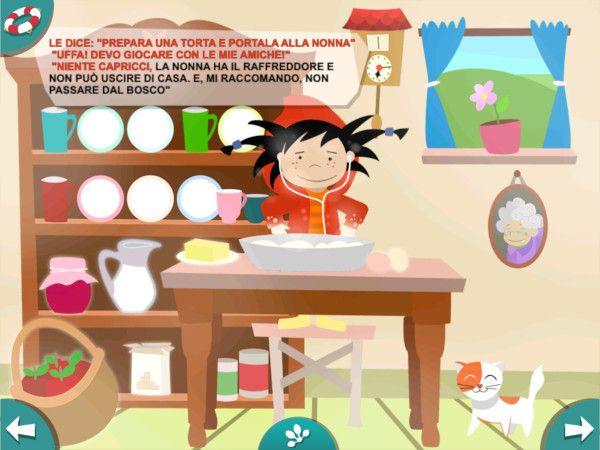 Cappucceto Rosso, fiaba e mini giochi