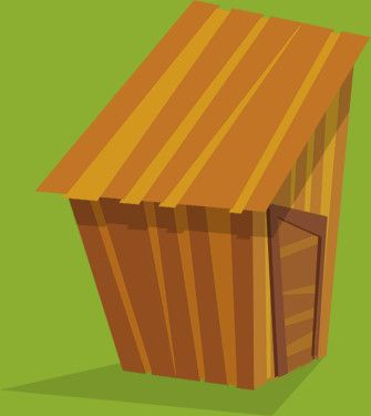 I tre porcellini: casetta di legno