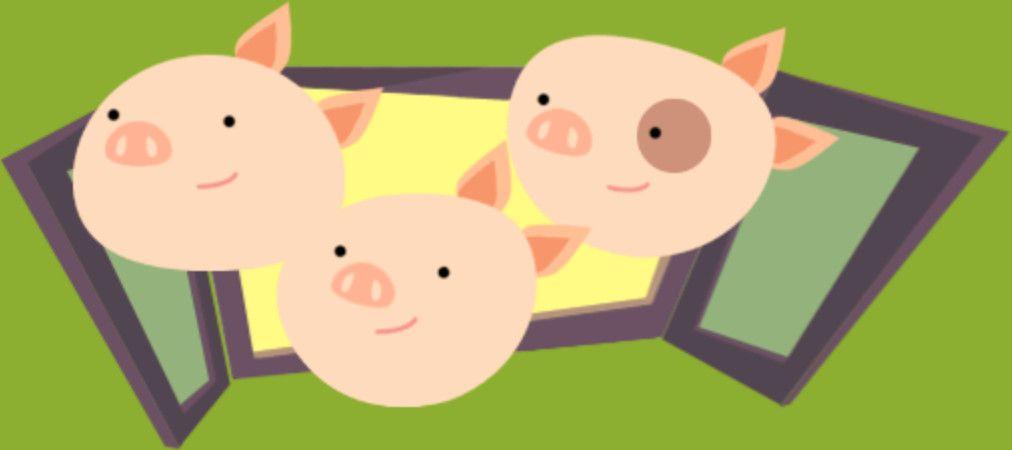 I tre porcellini insieme