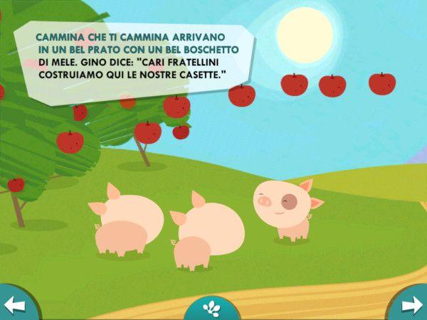 I tre porcellini:interagisci con i personaggi e gli oggetti