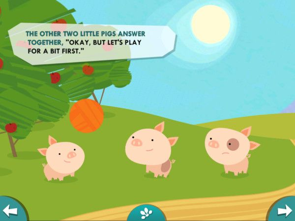I tre porcellini:disponibile nelle lingue italiano, inglese, francese, spagnolo e portoghese