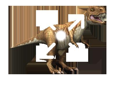3D stickers animati dinosauri move