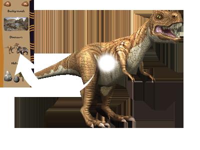3D stickers animati dinosauri cancellazione