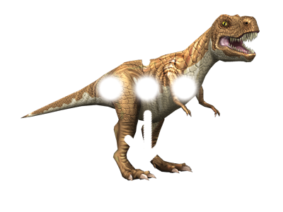 3D stickers animati dinosauri spostamento