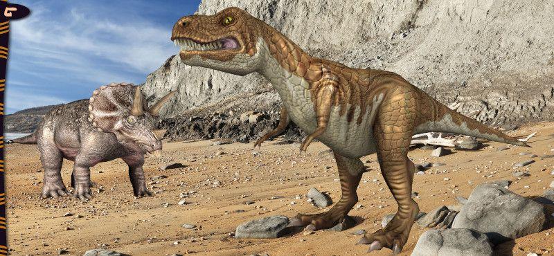 App 3D sticker animati dinosauri: schermata